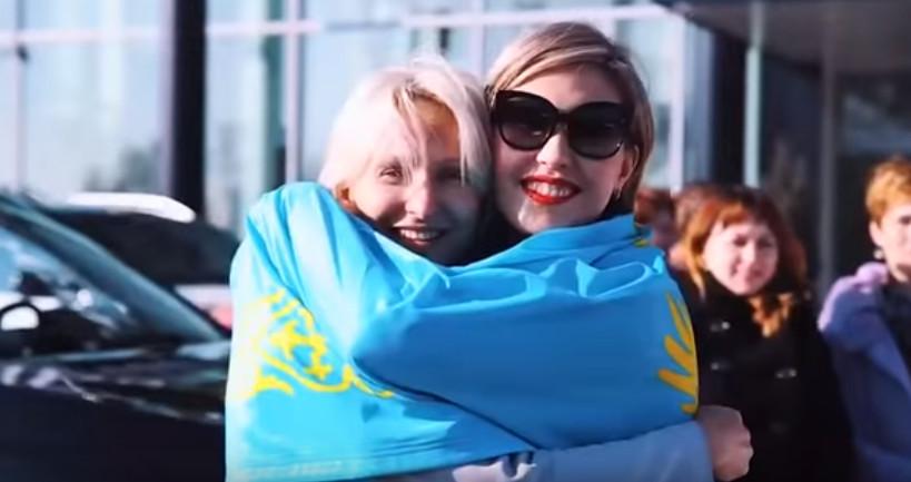 Касенова Малика и Елена Полянская